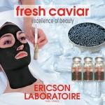 Foto van een gezichtsmasker met kaviaar
